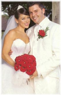 Johnny Shentall from hear'say and Lisa Scott-Lee from Steps Wedding day