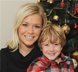 Suzanne Shaw from hear'say and her son Corey