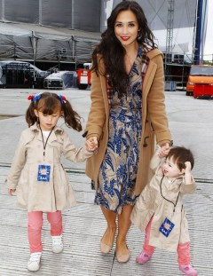 Myleene Klass from hear'say with her children Ava and Hero