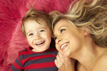 Suzanne Shaw from hear'say with her son Corey