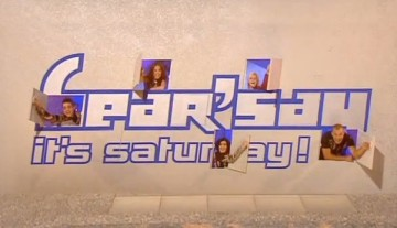 Hear'say on their TV programme hear'say it's saturday