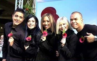 Hear'say launching The Royal British Legion's Poppy Appeal 2001